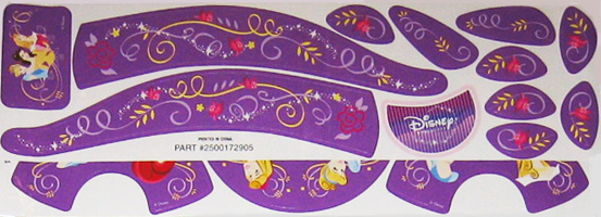 Disney Decals for Big Wheel Racer