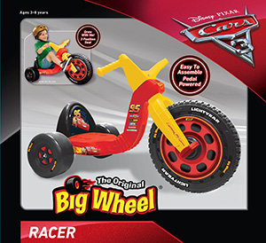 pixar 16 cars 3 big wheel\